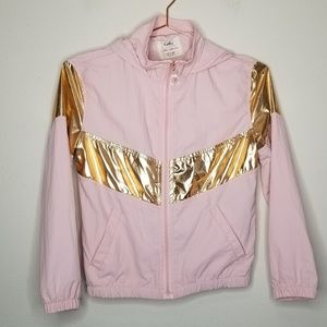 Nwt Kelly pink and gold wind breaker jacket